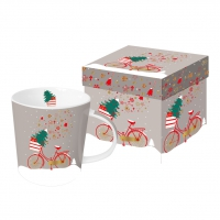tazza di porcellana Xmas Bike