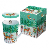 Cup with lid - Festive Animals