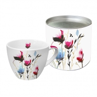 Porcelain Cup - Cornflowers Mix pink