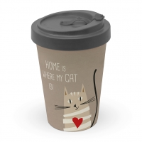 )Bamboo mug - Home Cat