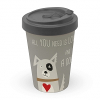 )Bamboo mug - Love and Dog