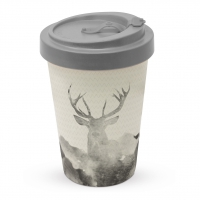 )Bamboo mug - Deer Watercolour