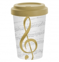 )Bamboo mug - I Love Music