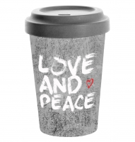 )Bamboo mug - Love and peace