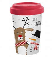 )Bamboo mug - Snow Friends