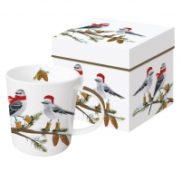 taza de la porcelana Birds Tweets