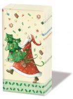 Taschentücher Santa with tree
