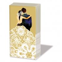 Taschentücher Wedding Couple gold