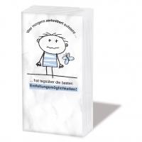 pañuelos de papel Zerknittert