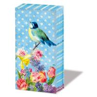 handkerchiefs Vintage Bird