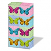 handkerchiefs Pop Art Butterflies