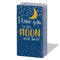 pañuelos de papel Moon Love dark blue