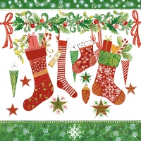 Lunch napkins Christmas Stockings