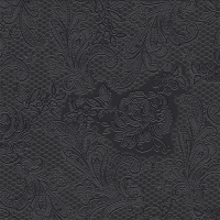 Lunch napkins Lace embossed black