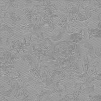 Lunch napkins Lace embossed silver