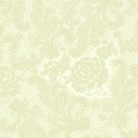 Lunch napkins Lace embossed ivory