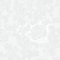 Lunch napkins Lace embossed pearl