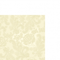 Cocktail Servietten Lace Embossed ivory
