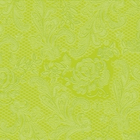 Lunch napkins Lace Embossed lime