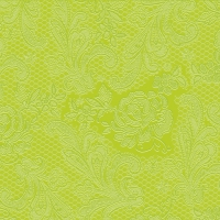 Cocktail napkins Lace Embossed lime
