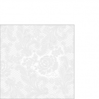 Cocktail napkins Lace embossed pearl