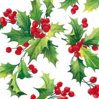 Lunch napkins Holly Berries