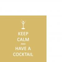 Cocktail Servietten Keep Calm... Cocktail