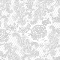 Lunch napkins Lace Royal embossed