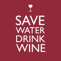 Lunch napkins Save Water Drink Wine