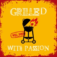 Lunch napkins Grilled Withe Passion orange