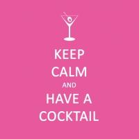 Cocktail Servietten Keep Calm... Cocktail pink