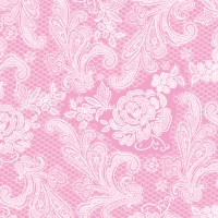 Lunch Servietten Lace Royal pastel pink white