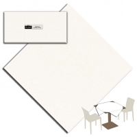 25 Tablecloth 100x100 cm UNICOLOR Bianco