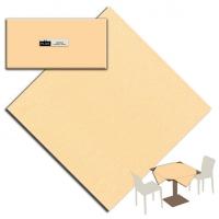 25 Tablecloth 100x100 cm UNICOLOR Champagne