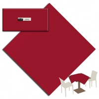 25 Tablecloth 100x100 cm UNICOLOR Bordeaux