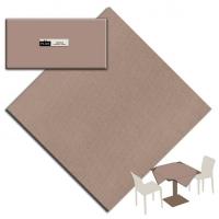 25 Tischdecken 100x100 cm UNICOLOR Cappucccino