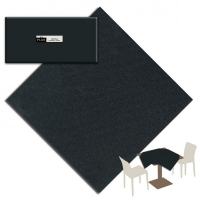 25 Tablecloth 100x100 cm UNICOLOR Nero