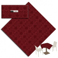 25 Tablecloth 100x100 cm VICTORIA Bordeaux