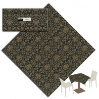25 Tablecloth 100x100 cm VICTORIA Nero