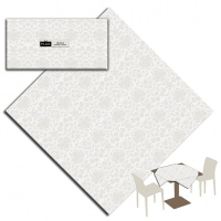 25 Tablecloth 100x100 cm VICTORIA Bianco