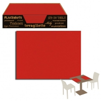 Set de Table UNICOLOR Rosso