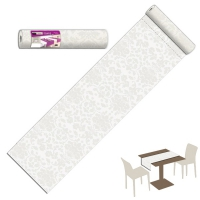 20 Chemin de table 40x120 cm VICTORIA Bianco