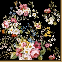 Serviettes lunch Blooming Opulence Black