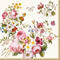 Lunch napkins Blooming Opulence Cream