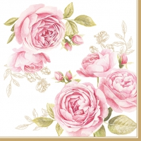 Lunch napkins Delicate Roses