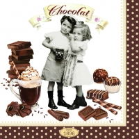 Serviettes lunch Vintage Chocolate