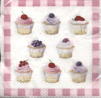 Lunch Servietten Cupcakes