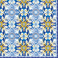 Serviettes lunch MAIOLICA BLU