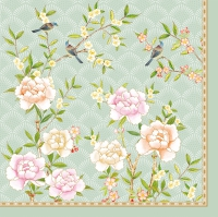 Lunch napkins PALACE GARDEN AQUA