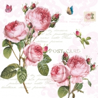 Serviettes lunch Romantic Roses